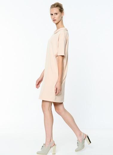 Kısa Kollu Düz Elbise-Soie Design
